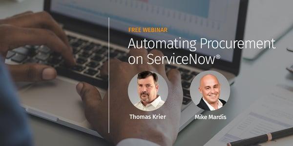 Automating Procurement on ServiceNow
